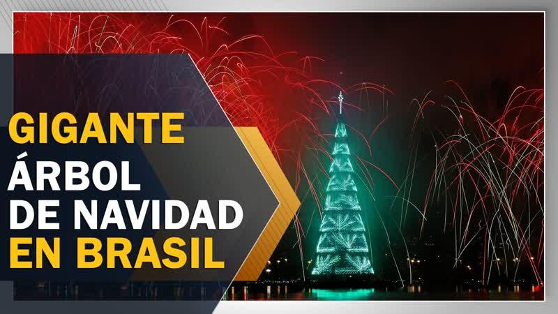Río de Janeiro enciende la Navidad con su árbol flotante