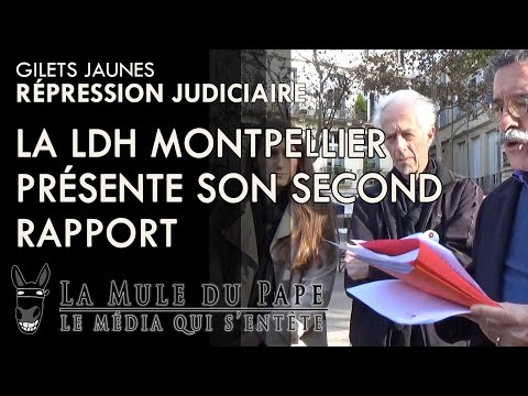 La LDH Montpellier présente son 2ème rapport sur la répression judiciaire des GJ