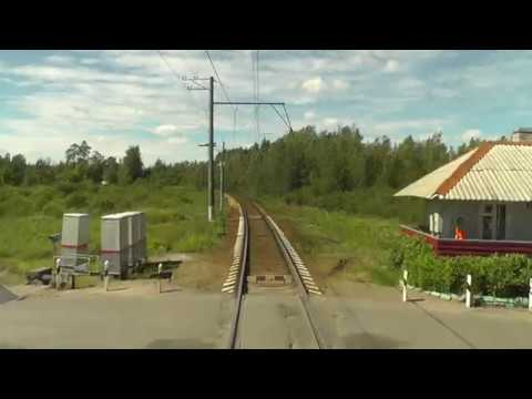 Train Driver's View Nevskaya Dubrovka Saint Petersburg Part 2 Cab ride view