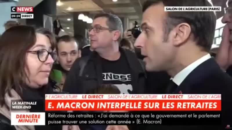 22 02 2020 Bravo à Sandrine qui a porté la parole des Gilets Jaunes face à un président en bout de c.mp4