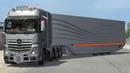 Mercedes - Benz New Actros С Аэродинамическим Прицепом   Euro Truck Simulator 2