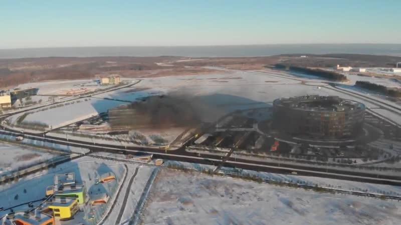Пожар произошел в подвале с соляркой в строящемся здании под Казанью