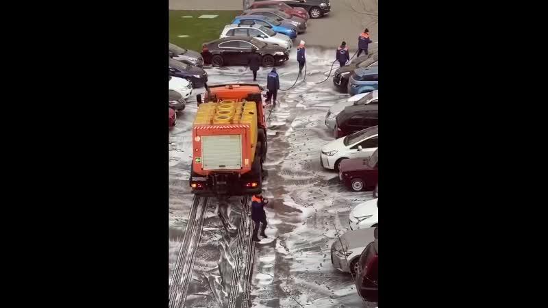 Дезинфекции улиц в Москве