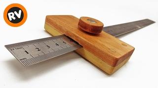 MUY UTIL y FACIL Como hacer un GRAMIL de madera CASERO para carpinteria Ruler Marking Gauge