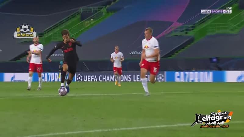 جواو فيليكس يدرك التعادل لاتلتيكو مدريد امام لايبزيج من ركلة جزاء 1 1