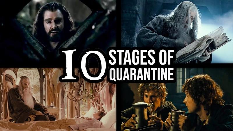 10 stages of COVID QUARANTINE Ft GANDALF Impressions Dub