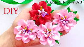 🌹 Easy Flower Making 🌹 Amazing Kanzashi Flower 🌹 DIY Ribbon Flowers - Flores de Fita