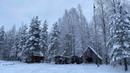 Трое суток в глухой Тайге Рыбалка с ночевкой в лесной избушке Настоящая зимняя сказка Карелии