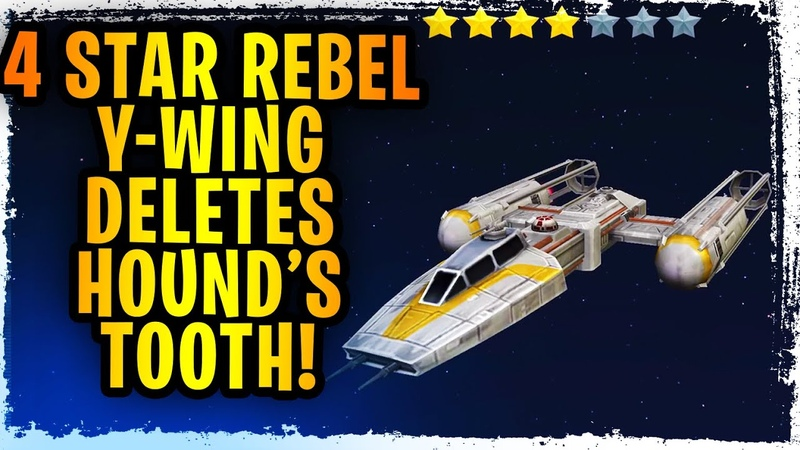 GOODBYE HOUND'S TOOTH 4 Star 7 Star Rebel Y Wing Testing Rebels Counter Kenobi's Negotiator